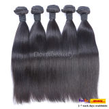 Dyeableの人間の毛髪の自然で黒く加工されていないバージンのインド人の毛