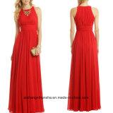 女性の軽くて柔らかい外装の袖なしのイブニング・ドレスのプロムの服W005