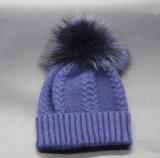 Großhandelshut der winter-und Herbst-warme Wolle-Jersey-quetschverbindenfrauen