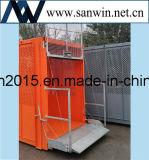 Улучшите механически подъем здания клетки Effciency твиновский для здания