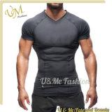 عالة لياقة لباس طبق جافّ نوبة [جم] [ت-شيرت] لأنّ عضلة رجل