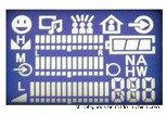 Stn青い128X32 LCDの表示プログラム可能なLCDの表示