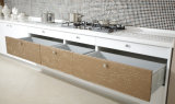 Fornecedores dos gabinetes de cozinha do revestimento de Matt da laca do MDF (zz-073)