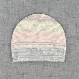 Новой Multicolor акриловой связанный нашивкой Slouchy Beanie девушки 2017