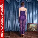 Мечтательный пурпуровый Costume джинов сетки Sequin с уравновешиванием золотой монетки