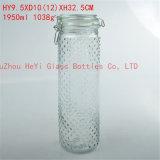 1050ml食糧ガラスシーリング瓶、ガラスふたが付いている貯蔵容器