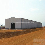 プレハブの軽い鉄骨構造の倉庫の建物