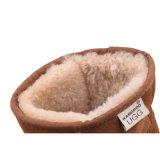 Clásico australiano doble cara mini piel de oveja de castaño