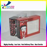 Квадратная коробка печатание цвета косметическая упаковывая с ясным окном