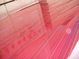 Madeira compensada vermelha do poliéster Plywood/PVC/madeira compensada de papel da folha de prova com melhor preço