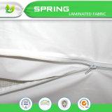 Impermeable asegurar la cubierta de colchón Zippered echada a un lado 6 del sistema de defensa del sueño Terry