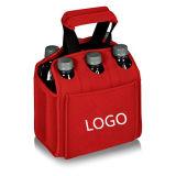 Неопрен сумка Tote охладителя 6 пакетов для перемещения