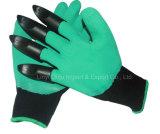 Latex beschichtete grabende Garten-Handschuhe mit vier Greifern