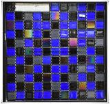 La cocina azul del mosaico del vidrio de mosaico embaldosa el suelo del mosaico de los diseños del mosaico