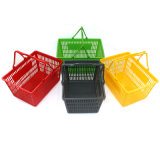 제조자 슈퍼마켓 플라스틱 손잡이 회전 쇼핑 바구니