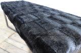 Покрывать черный стенд тахты кожи Cowhide цвета черноты основания нержавеющей стали цвета