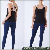 Großhandelseigenmarken-Gymnastik-Kleidungs-Trägershirt-Frauen-Gymnastik-Abnützung