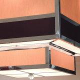 Licht van de Tegenhanger van de Schaduw van de Stof van het Hotel van de douane het Vierkante Decoratieve Beige Zwarte bij de Zaal van het Banket