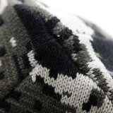 Le coton Camo de Mens recouvre le chapeau de patinage de ski de Beanies tricoté parhiver chaud de Double couche (HW411)