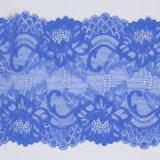 Vente en gros en nylon élastique de lacet de tissu de Lycra de marine