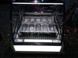 Congelador de la visualización del helado/congelador comercial de la visualización del helado