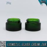 20ml de groene Berijpte Kosmetische Kruik van de Room van het Glas