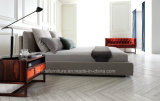 침실 사용 (MB1301)를 위한 현대 이탈리아 가죽 침대