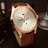 H368 Yazole Luxuxgeschäfts-Uhr für Männer Stern und Mond-Art-wasserdichte Mann-Armbanduhr