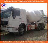caminhão concreto do misturador de cimento de 6X4 Sinotruk e de HOWO 371HP 10cbm
