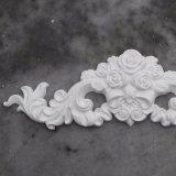 O poliuretano da decoração dos ornamento Appliques centros florais com os Onlays Hn-S060 da folha do rolo