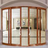 Portes intérieures en verre de dessus rond de balcon de bâti de faisceau en aluminium français bon marché de cavité