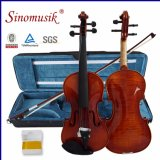 4/4 violon avancé avec la proue de violon de caisse de violon