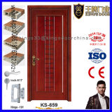 Hecho en puerta principal interior de madera sólida de China