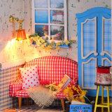 La casa de muñeca de DIY con la luz embroma el regalo de los juguetes del adulto