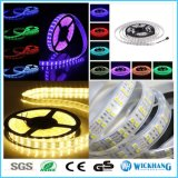 5mの二重列5050 SMD 120 LED/M RGBの白い屈曲LEDの滑走路端燈