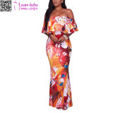 Fashion Rayon Women Beach Sexy Long Maxi Dress L51405