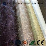 Кожа PVC кожи доказательства воды синтетическая для софы и мебели
