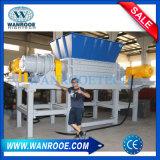 Double machine de défibreur d'arbre de recyclage des déchets