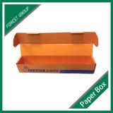 Caixa de cartão lustrosa dobrada costume