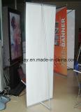 Pôle en aluminium latéral simple L étalage de stand de drapeau de bâti