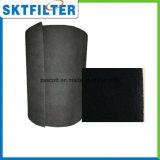 Hoja activada de la fibra del filtro del carbón