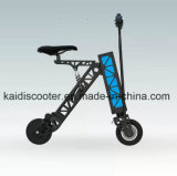 Motocicleta eléctrica plegable aluminio de 2 ruedas con la luz del LED