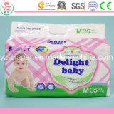 Пеленка младенца оптовой продажи младенца наслаждения M35 дешево устранимая толщиная в большом части