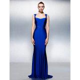 Schöne Rückseite plus Schleife-Pinsel-Serie Jersey der Größen-zierliche Trompete-Nixe-Königin-Anne mit dem Bördeln des Kristallabend-Kleides