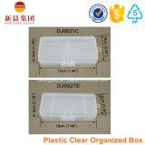 Caixa de armazenamento plástica de 3 compartimentos