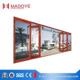 Double porte de pliage lourde glacée en aluminium Facile-Tirée pour le balcon