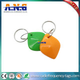 Material impermeable 13.56MHz RFID Keyfobs del ABS con el Keyring