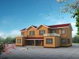 큰 발코니 조립식 가옥 집을%s 가진 간단한 그러나 실제적인 2-Storey 집