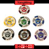 Lehm-Schürhaken-Chips der Qualitäts-14G mit Mette Aufkleber-Kasino-Lehm bricht Ym-Cy01 ab