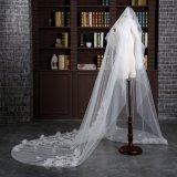 Оптовая вуаль 3 венчания измеряет 1 слой Tulle/шнурок